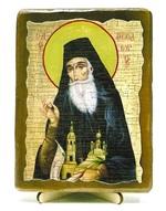 Феодор Санаксарский, Св.Прп., икона под старину, на дереве (13х17)