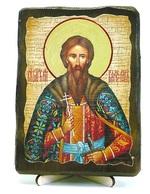 Вячеслав Чешский, икона под старину, на дереве (13х17)
