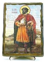 Ростислав, Св.Муч, икона под старину, на дереве (13х17)