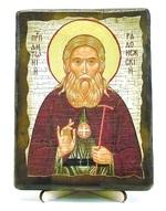 Антоний Радонежский, икона под старину, на дереве (13х17)