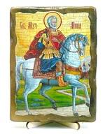 Мина Котуанский, икона под старину, на дереве (13х17)