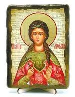 Любовь, Св.Мч, икона под старину, на дереве (13х17)