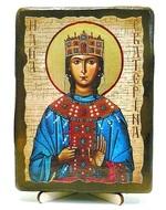 Екатерина Александрийская, Св.ВлМч.(пояс), икона под старину, на дереве (13х17)