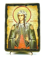 Светлана, Св.Муч, икона под старину, на дереве (13х17)