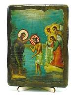Богоявление, икона под старину, на дереве (13х17)
