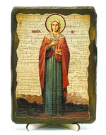 Ева,Св.ВлМч.(рост), икона под старину, на дереве (13х17)