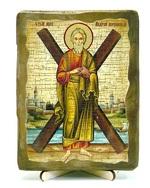 Андрей Первозванный, икона под старину, на дереве (13х17)