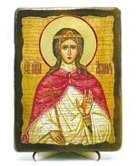 Агния, Св.Муч, икона под старину, на дереве (13х17)