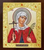 Валентина, Св. муч.. Икона в окладе средняя (Д-21-104)