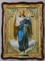Арх. Гавриил (рост), в фигурном киоте, с багетом. Храмовая икона (60 Х 80)