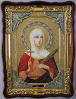 Татьяна, Св. муч., в фигурном киоте, с багетом. Храмовая икона (60 Х 80)