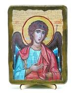 Архангел Михаил (пояс), икона под старину, на дереве (13х17)