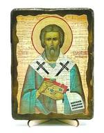 Валентин, Епископ Интерамский, икона под старину, на дереве (13х17)