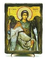 Архистратиг Михаил, икона под старину, на дереве (13х17)