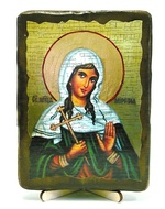 Миропия Хиосская, Св.Муч., икона под старину, на дереве (13х17)