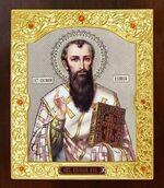 Василий Великий. Икона в окладе средняя (Д-21-105)