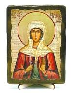 Стефанида Дамасская, Св.Муч, икона под старину, на дереве (13х17)