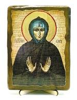 Кира Берийская, Св.Муч, икона под старину, на дереве (13х17)