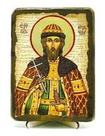 Игорь Черниговский, Св.Вел.Князь, икона под старину, на дереве (13х17)