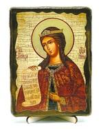 Ирина, Св.Муч, икона под старину, на дереве (13х17)
