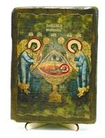 Агнец Божий, икона под старину, на дереве (13х17)