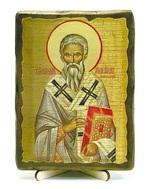 Геннадий, Архиепископ Новгородский, икона под старину, на дереве (13х17)