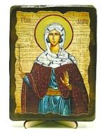 Злата Могленская, Св.Муч, икона под старину, на дереве (13х17)