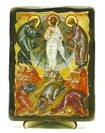 Преображение Господне, икона под старину, на дереве (13х17)