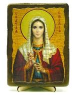 Эмилия, Св.Муч, икона под старину, на дереве (13х17)