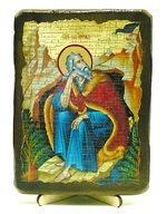 Илья Пророк, икона под старину, на дереве (13х17)