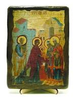 Обрезание Господне, икона под старину, на дереве (13х17)