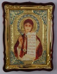 Параскева, Св. муч., в фигурном киоте, с багетом. Храмовая икона (60 Х 80)