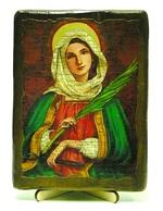 Аполлинария, Св.ПрПд., икона под старину, на дереве (13х17)