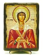Татьяна, Св.Муч, икона под старину, на дереве (13х17)