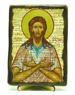 Алексий, человек Божий, икона под старину, на дереве (13х17)