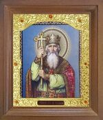 Владимир, Святой Равноапостольный князь. Икона в деревянной рамке с окладом (Д-26псо-108)
