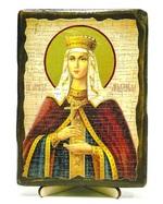 Людмила, Св.Мч, икона под старину, на дереве (13х17)