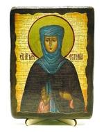 Евгения, Св.Муч, икона под старину, на дереве (13х17)