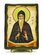 Даниил Столпник, икона под старину, на дереве (13х17)