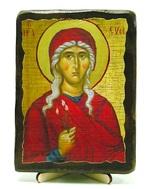 Ева,Св.ВлМч.(пояс), икона под старину, на дереве (13х17)