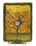 Лоза истинная, икона под старину, на дереве (13х17)