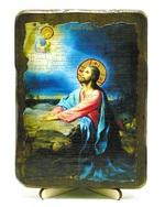 Моление о чаше, икона под старину, на дереве (13х17)