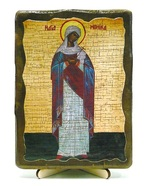 Моника, Св.Муч, икона под старину, на дереве (13х17)