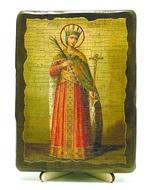 Екатерина Александрийская, Св.ВлМч.(рост), икона под старину, на дереве (13х17)