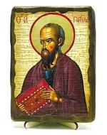 Апостол Павел, икона под старину, на дереве (13х17)