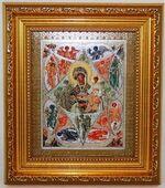 Неопалимая Купина Б.М. Икона в багетной рамке 14 Х 16