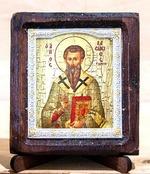 Василий Великий, Икона Византикос, полуоклад, 8Х6