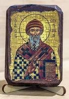 Спиридон Тримифунтский (пояс), икона под старину, сургуч (8 Х 10)