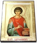 Пантелеймон, икона Греческая, 17 Х 23