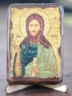 Иоанн Предтеча, икона под старину, сургуч (8 Х 10)